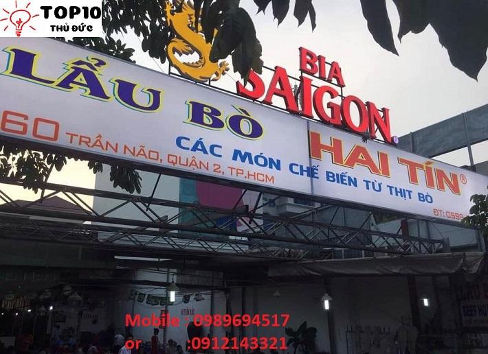 Lẩu bò Hai Tín - Quận 2