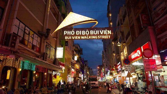 Địa điểm đi chơi ở Sài Gòn về đêm - Phố đi bộ Bùi Viện
