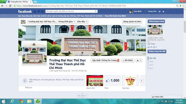 Các trường đại học công lập TPHCM - Đại học Sư Phạm Thể Dục Thể Thao