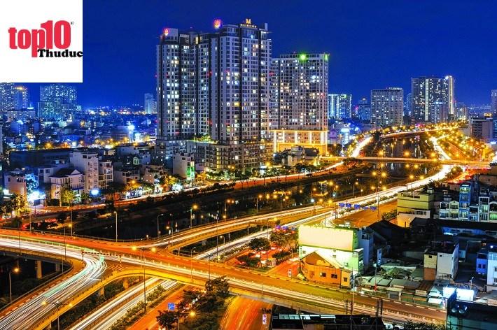 Hình ảnh Sài Gòn về đêm