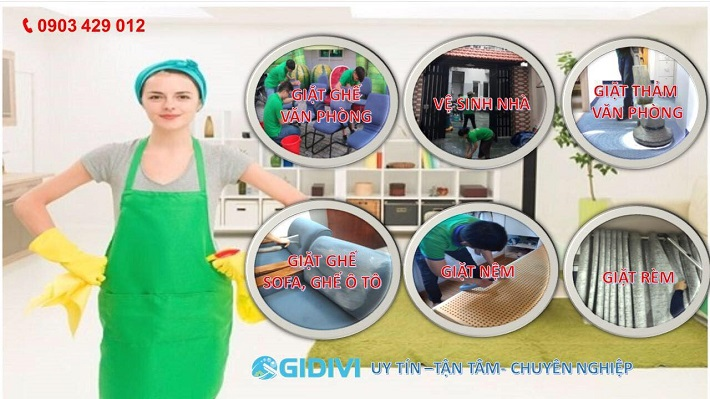 Giặt rèm cửa - Công ty TNHH ĐT DV Gia Đình Việt - GIDIVI