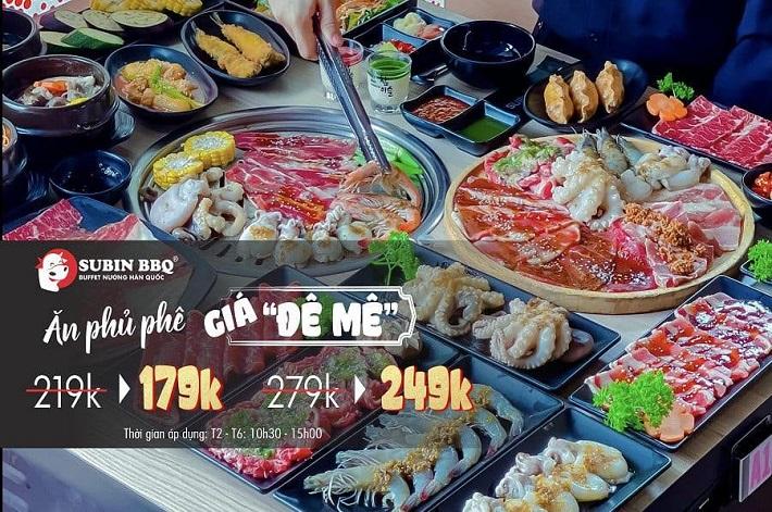 Quán ăn Hàn Quốc ở Thủ Đức - Subin BBQ