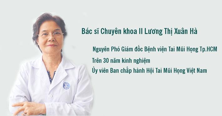 Bác sĩ Tai Mũi Họng giỏi TPHCM - BSCKII Lương Thị Xuân Hà