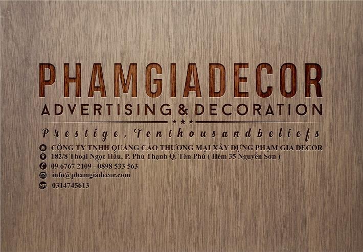 Công ty quảng cáo - Phạm Gia Decor
