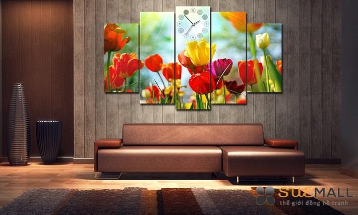 Tranh treo phòng khách - Thế Giới Đồng Hồ Tranh SueMall