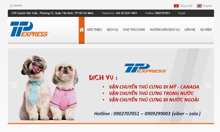 Dịch vụ vận chuyển thú cưng TTP Express