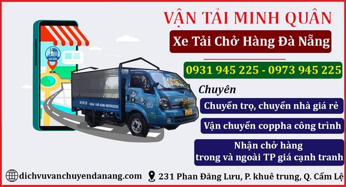 Dịch vụ vận tải Minh Quân   Nguồn từ trang web dichvuvanchuyendanang.com
