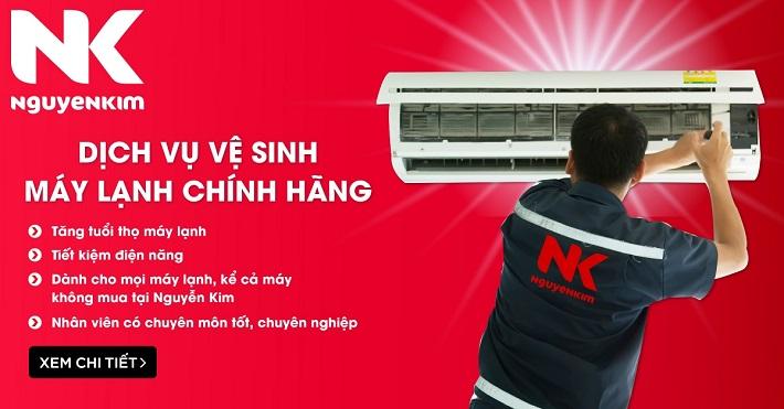 Dịch vụ vệ sinh máy lạnh Nguyễn Kim | Nguồn từ trang web nguyenkim.com
