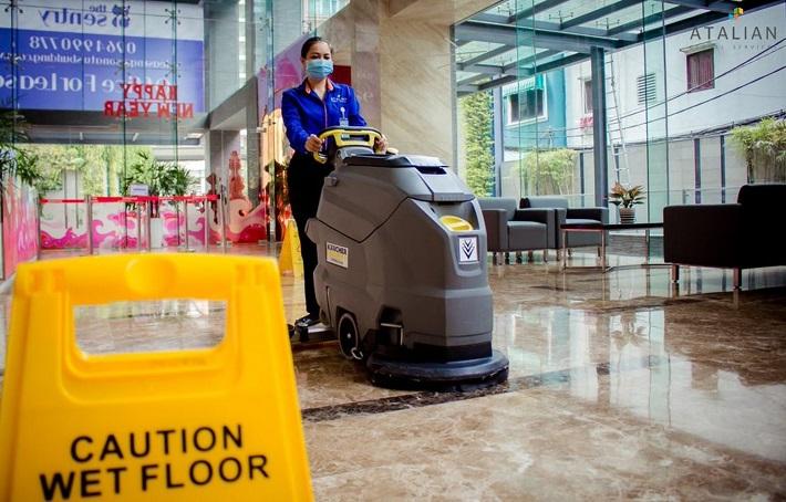 Dịch vụ vệ sinh văn phòng - ATALIAN   Nguồn từ trang atalian.vn