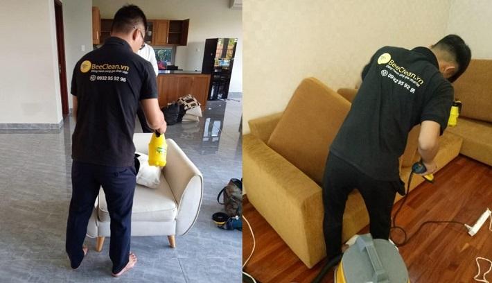 Giặt sofa tại nhà Quận Bình Thạnh - BeeClean   Nguồn từ trang beeclean.vn